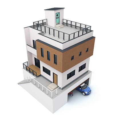 戸建住宅鳥瞰パース
